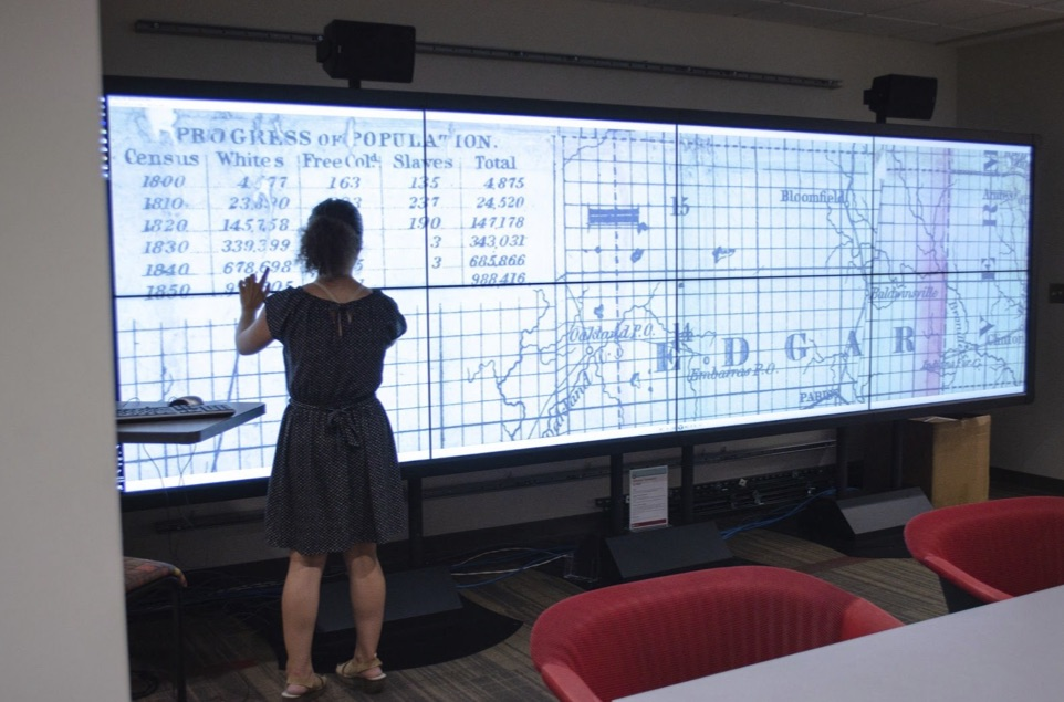 Interactive 4x2 touchscreen