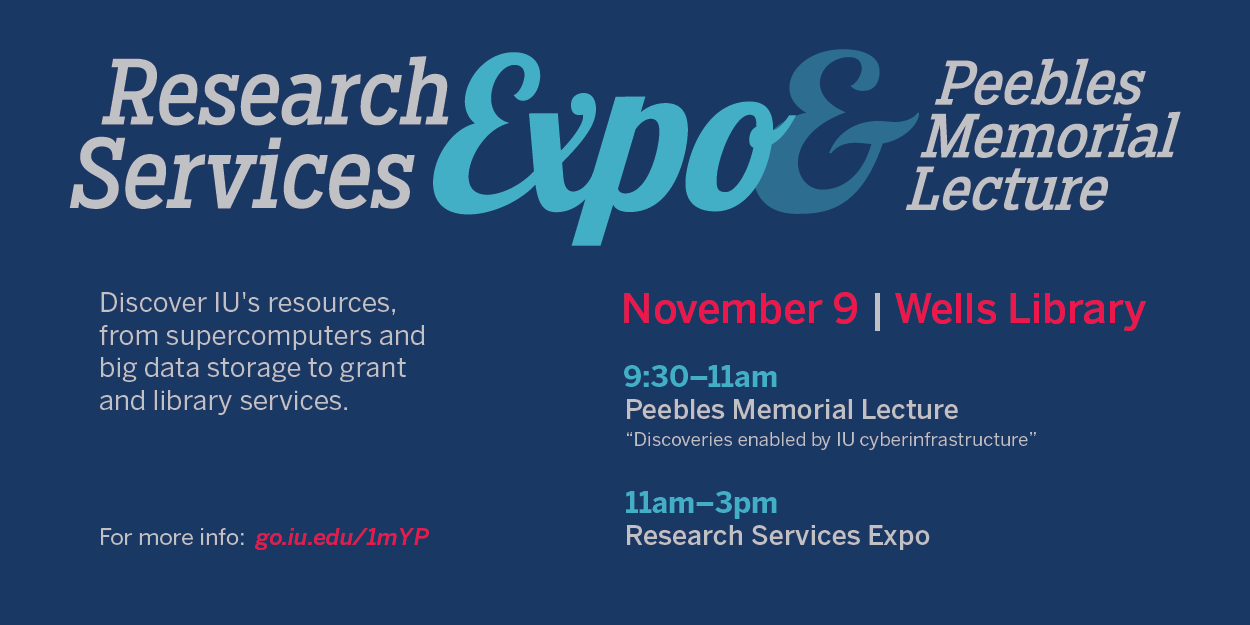 Research Services Expo and Peebles Memorial Lecture